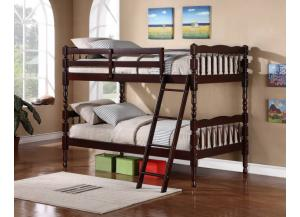 Image for Victory Cherry Twin Bunk Bed