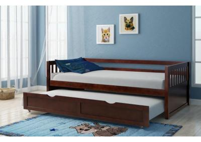 Lawton Cherry Twin Daybed with Trundle
