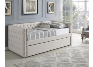 Trina Cream Twin Daybed with Trundle