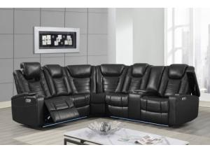 Image for Transformer Black Power Motion Sectional