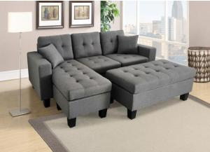 Gabriel Reversible Sectional with Ottoman