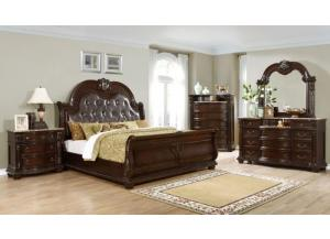 Vienna Cherry King 5PC Bedroom Set