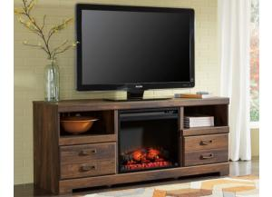 "Image for 63"" TV Stand with LED fireplace insert"