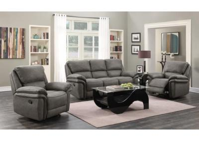 Lariat Gray Motion 3 PC Living Room Set