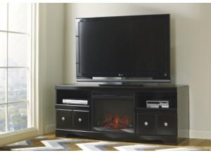"Image for 66"" Media stand with LED fireplace centered"