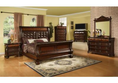 Hemingway Cherry Queen 5 PC set (dresser,mirror,nightstand,chest)