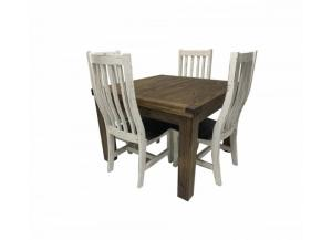 French Quarters Square distressed looking 5PC Dining table (4 Chairs)