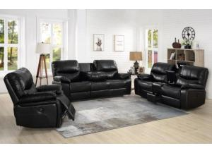Steel Black Power Assist 3PC Living Room Set
