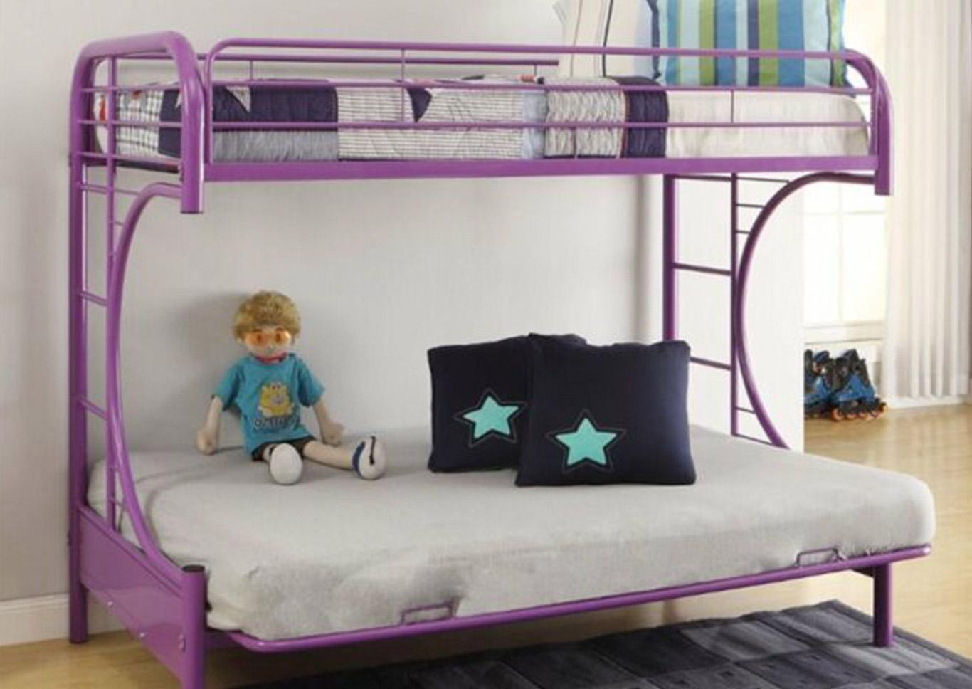 Eclipse Purple Bunk Bed (Twin/Full/Futon),In Store Products