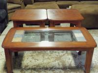 Image for Ashley Oak/Slate 3pc Occasional Tables 001527 WAS: $379.99