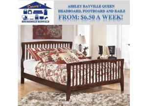 Image for Ashley Rayville Queen Panel Headboard, Footboard and Rails. RTO List Price: $329.99