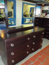 Ashley Merlot Dresser and Mirror 001415 WAS: $539.99