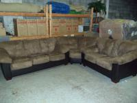 Image for Ashley 3pc Carson Cocoa Sectional 001440 WAS: $1,399.99