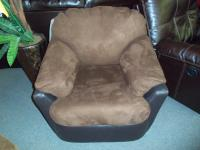 Ashley Solara Espresso Swivel Rocker 001383 WAS: $409.99