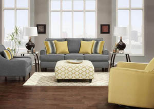 Maxwell Grey Sofa