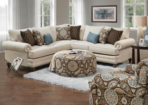 Anna White Linen Sectional