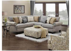 Hobbs Flannel Sectional