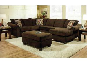 Dynasty Chocolate Sectional