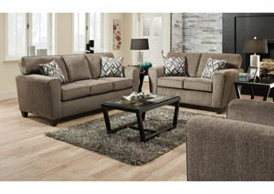 Cornell Pewter Sofa & Loveseat Collection