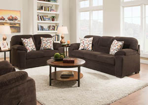 Beethoven Godiva Sofa & Loveseat Collection