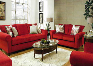 Winnie Scarlet Sofa & Loveseat Collection
