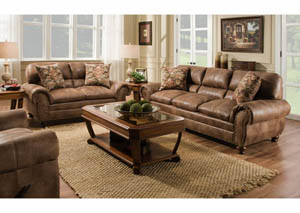 Rochester Hazelnut Sofa & Loveseat Collection