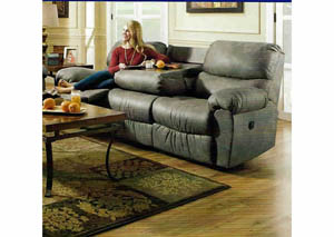Sante Fe Grey Reclining Sofa w/Table Center