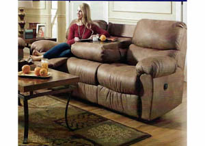 Sante Fe Silt Reclining Sofa w/Table Center