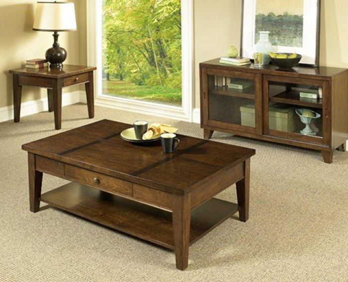 3 Pack Tables (Cocktail Table and 2 Drawer End Tables),AWF