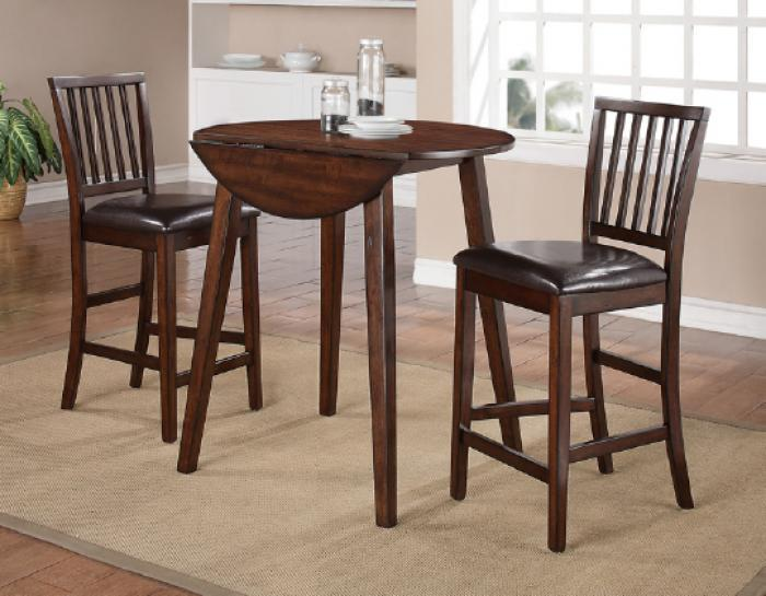 Mango 3Pc Drop Leaf Pub Table Set (Table & 2 Chairs),AWF