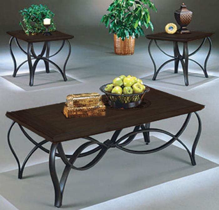 3 Pack Espresso Tables (Coffee Table and 2 End Tables),AWF