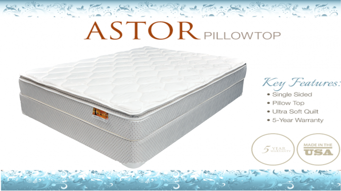 Astor Plush Pillowtop Queen Mattress & Boxspring Set,Corsicana Bedding