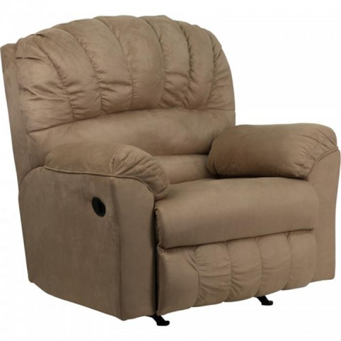 Serta Upholstery 600 Padded Saddle Big Man Rocker/Recliner,Hughes Furniture / Serta Upholstery