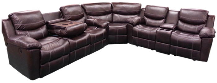 3Pc Chestnut Power Sofa Sectional,AWF