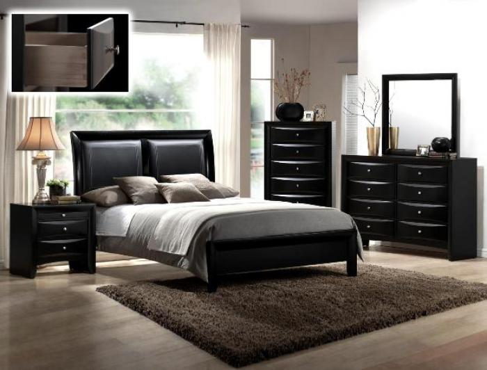 Emily Black King Bed,Crown Mark In-Store