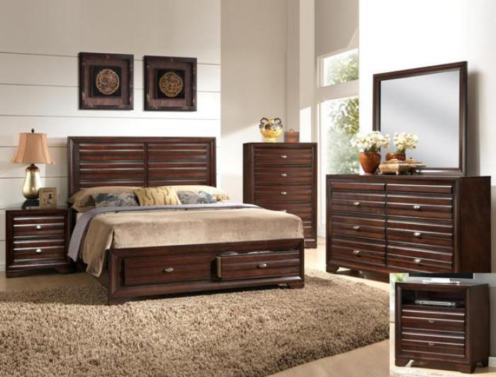 Stella Storage King Bedroom Set (King Storage Bed, Dr/Mirr & Chest),Crown Mark In-Store