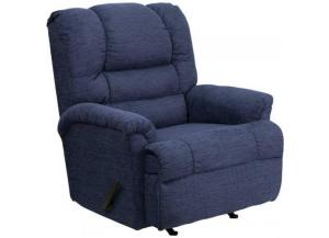 Image for Serta Upholstery 500 Radar Blue Big Man Rocker/Recliner