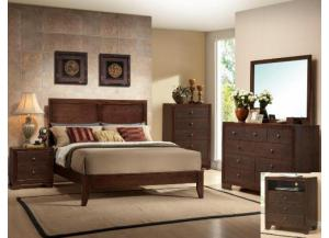Sylvia Queen Bedroom Set (Queen Bed, Dr/Mirr & Chest)