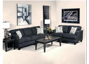 Serta Upholstry Soprano Ebony Sofa & Loveseat