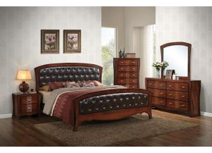 Jenny Queen Bed Set (Queen Bed, Dresser/Mirror, & Chest)