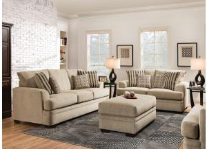 Cornell Platinum Sofa & Loveseat