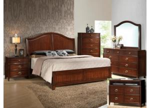 Image for Alma King Bedroom Set (King Bed, Dresser/Mirror, & Chest)