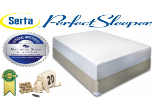 Serta Perfect Sleeper West Dean Memory Foam Queen Mattress & Boxspring Set
