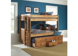 Full/Full Bunkbed w/Trundle