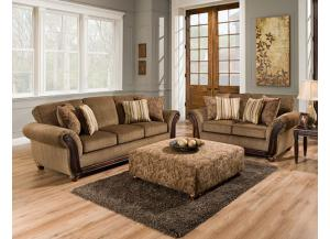 Image for Cornell Chestnut Loveseat