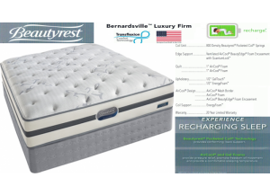 Simmons Beauty Rest Recharge Bernardsville Firm Hybrid Queen Mattress & Boxspring Set