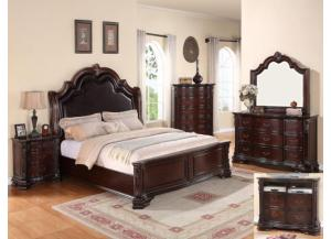 Sheffield Queen Bedroom Set (Queen Bed, Dresser/Mirror, & Chest)