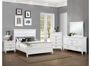 Hannah Queen Bed Set (Queen Bed, Dresser/Mirror, and Chest)