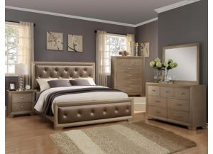 Fontaine Queen Bedroom Set (Queen Bed, Dresser/Mirror, and Chest)
