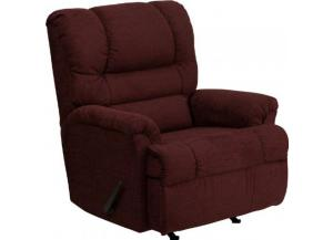 Serta Upholstery 500 Radar Wine Big Man Rocker/Recliner